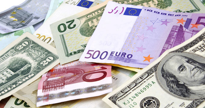 euro, dollar