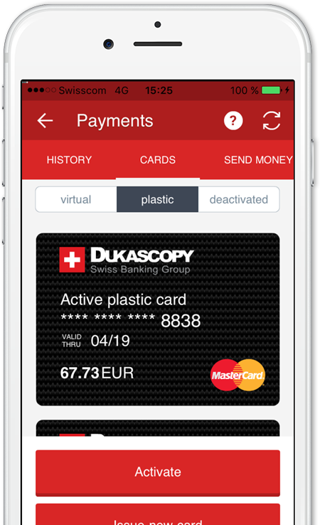 Dukascopy, Payments
